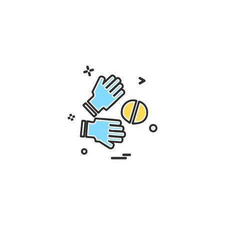 Catch cricket  gloves  wicketkeeper icon vector design 写真素材 - 114362938