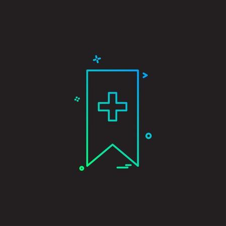 Bookmark icon design vector Illustration