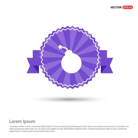 Halloween Bomb icon - Purple Ribbon banner