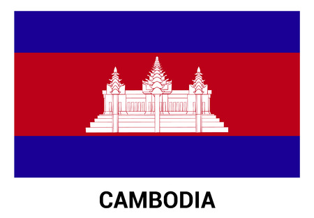 Cambodia flag design vector