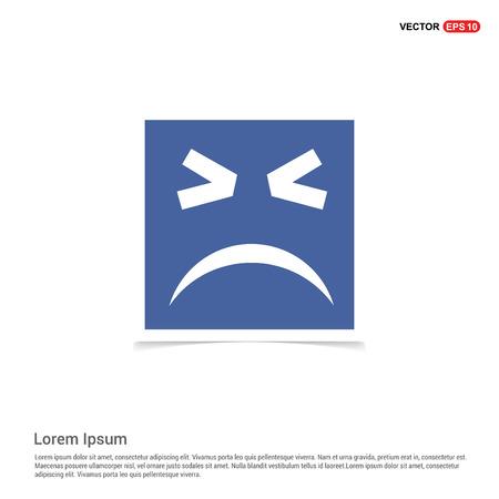 Emoji icon - Blue photo Frame