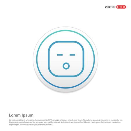 smiley icon, Face icon Hexa White Background icon template - Free vector icon