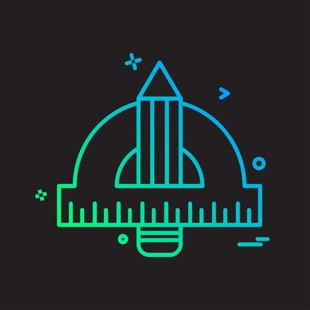 Geometry scale icon design vector