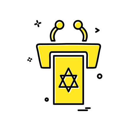 Jewish rostrum icon design vector