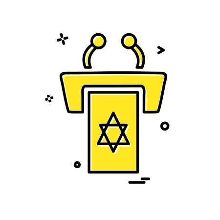 Jewish rostrum icon design vector