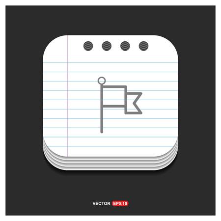 Flag mark icon - Free vector icon