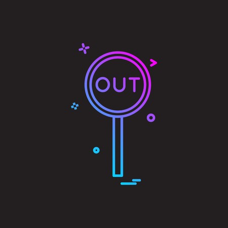 out decision umpire icon vector design Illustration