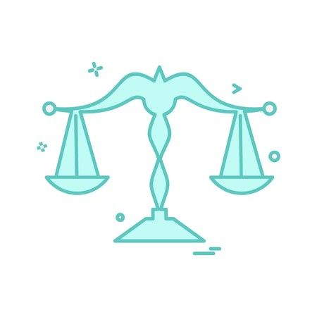 Waage Symbol Design Vektor