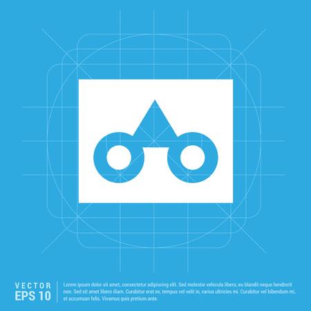 glasses frame icon Illustration