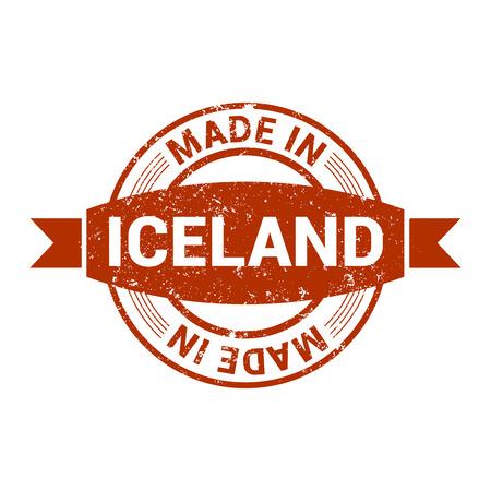 Iceland stamp design vector Vettoriali