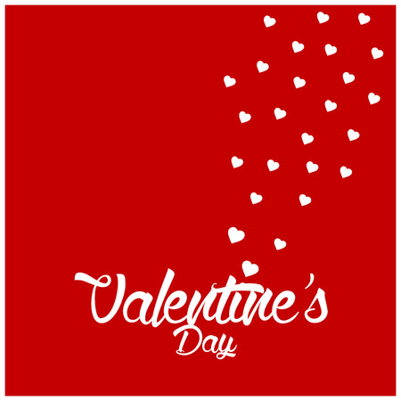 Valentines day design typography and card with elegent design vector