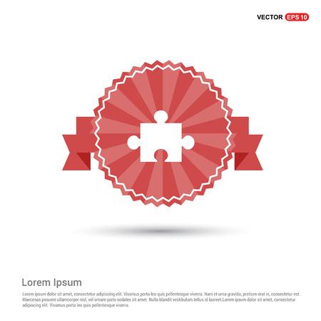 Network icon - Red Ribbon banner Illusztráció