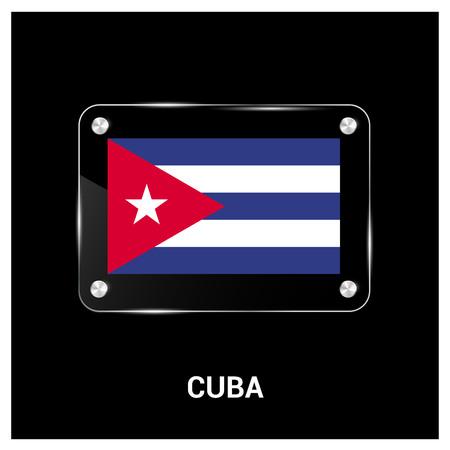 Cuba flag design vector Ilustração