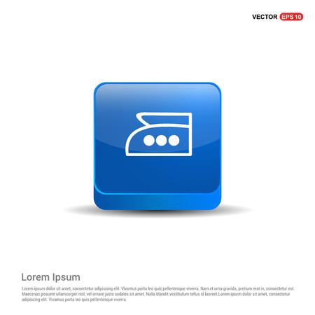 Laundry symbols icon - 3d Blue Button.
