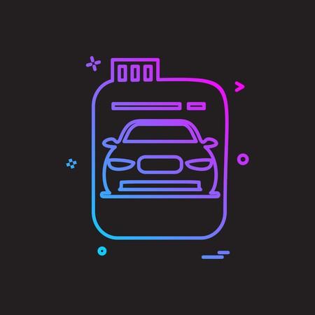 Fuel can gas can car icon vector design