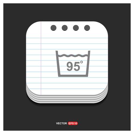 Icône de symboles de blanchisserie - Icône de vecteur gratuit