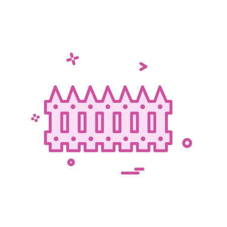Wandbegrenzungsikonen-Entwurfsvektor Vektorgrafik