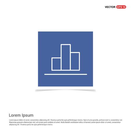 Business graph icon - Blue photo Frame Illustration