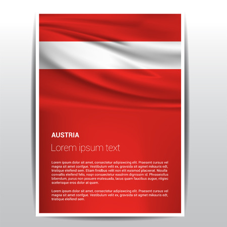 Austria flag design vector