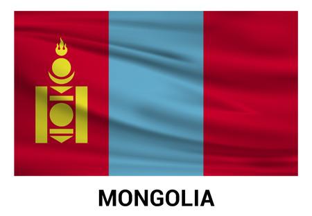 Mongolia flags design vector