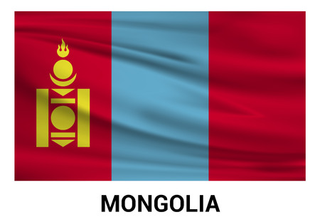 Mongolia flags design vector