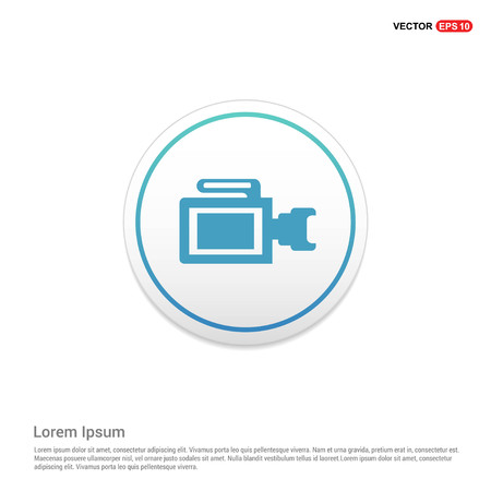 Photo camera icon Hexa White Background icon template - Free vector icon