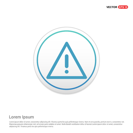 warning icon - white circle button Vettoriali