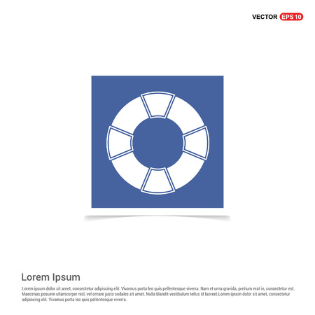Life Buoy Icon - Blue photo Frame