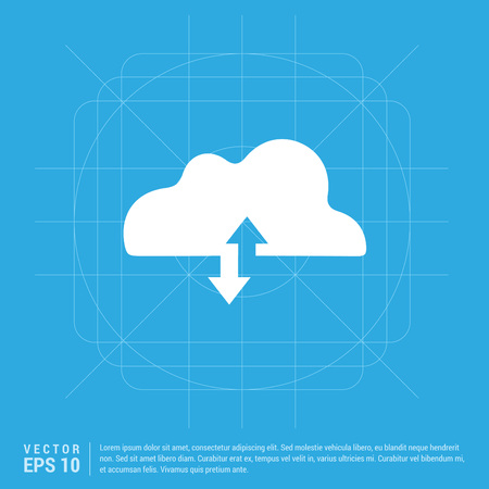 Upload Download Cloud Icon 向量圖像