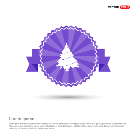 X-Mas Tree Icon - Purple Ribbon banner