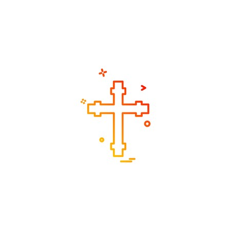 Church icon design vector 向量圖像