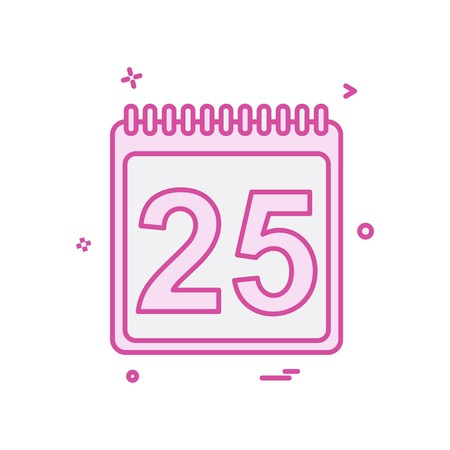 25 dec icon design vector Illustration