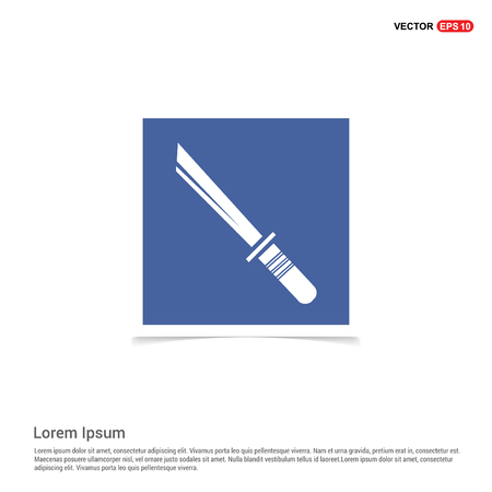 Katana Sword Icon - Blue photo Frame Illustration