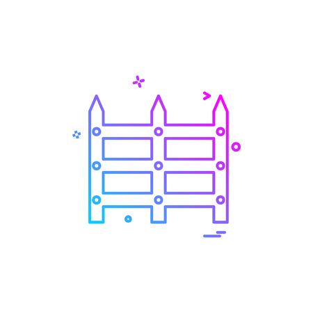 Grenzwandikonen-Designvektor Vektorgrafik