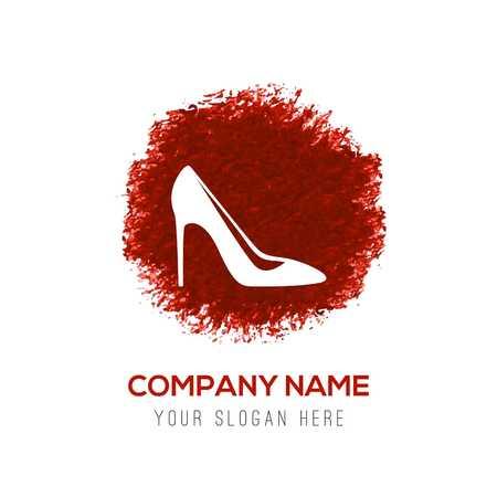High-heels icon - Red WaterColor Circle Splash