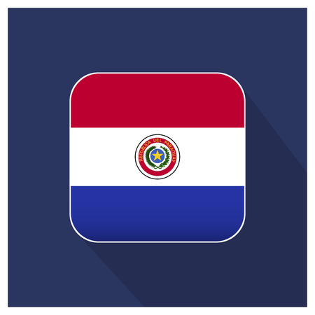 Paraguay flags design vector