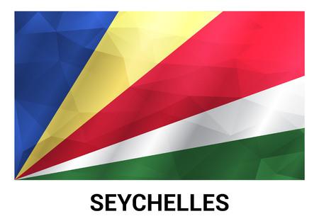 Seychelles flags design vector