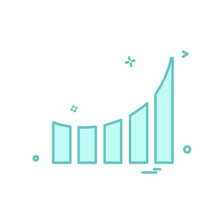 Graph icon design vector