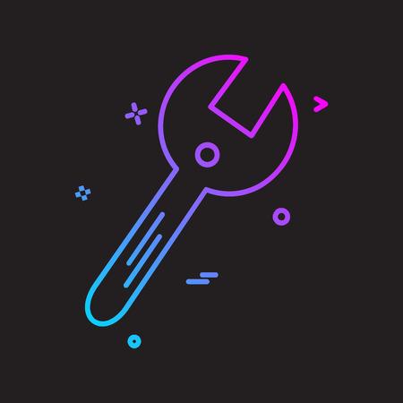 Labour tools icon design vector Ilustración de vector