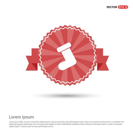 Icon socks - Red Ribbon banner
