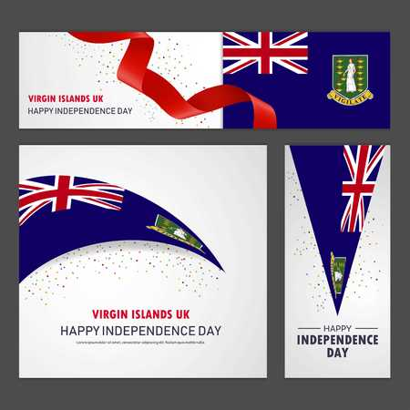 Happy Virgin Islands UK independence day Banner and Background Set