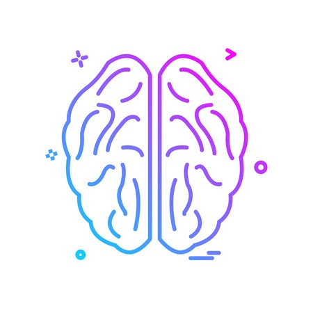 Brain icon design vector Imagens - 118330024