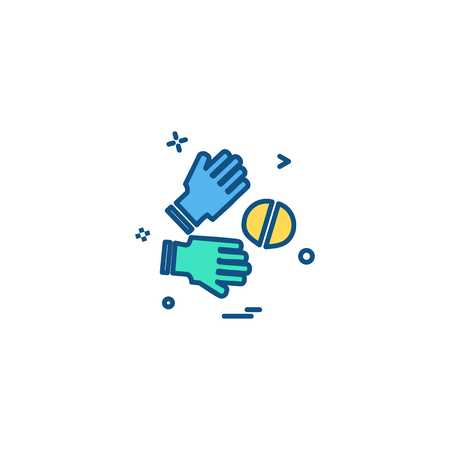 Catch cricket  gloves  wicketkeeper icon vector design 写真素材 - 115031960