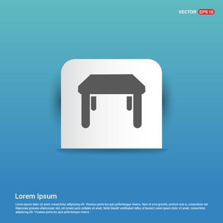 Table Icon - Blue Sticker button