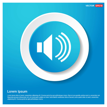 Sound volume icon Abstract Blue Web Sticker Button - Free vector icon