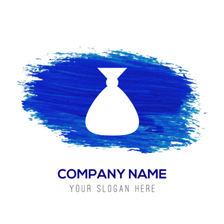 Money Bag icon - Blue watercolor background