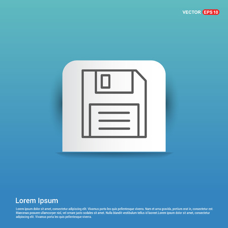 Notepad icon, flat design. - Blue Sticker button