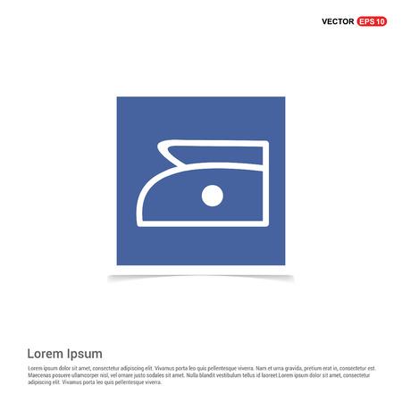 Laundry symbols icon - Blue photo Frame Vektoros illusztráció