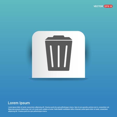 Delete Icon - Blue Sticker button