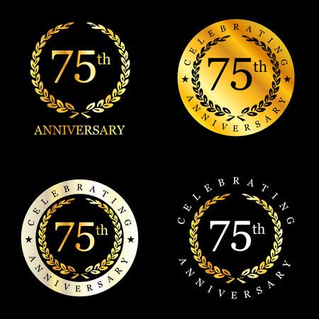 Celebrating anniversary badges with elegent design vector Stok Fotoğraf - 115206732
